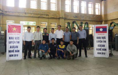 Công tác huấn luyện thi tay nghề Asean nghề Hàn tại trường Cao đẳng nghề Việt Xô số 1, đội tuyển quốc gia Việt Nam và quốc gia Lào