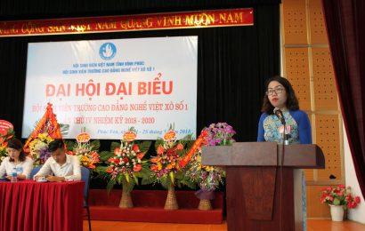 Đại hội đại biểu Hội Sinh viên Trường Cao đẳng nghề Việt Xô số 1 Lần thứ IV nhiệm kỳ 2018 – 2020