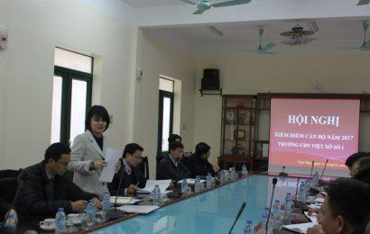 Hội nghị kiểm điểm cán bộ năm 2017