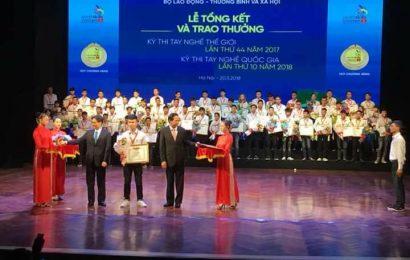 Tôn vinh lao động trẻ tay nghề cao  trong kỳ thi tay nghề quốc gia lần thứ X năm 2018