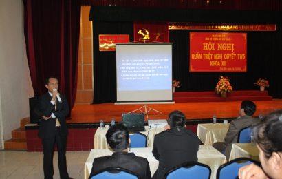 Hội nghị học tập, quán triệt  nghị quyết Trung ương 6 khóa XII của BCH TW Đảng