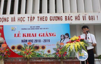 Lễ khai giảng năm học 2018 – 2019