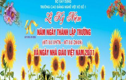 Lễ kỉ niệm 40 năm thành lập trường và ngày nhà giáo Việt Nam 20/11