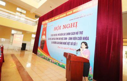 Hội nghị tuyên truyền phổ biến về các chính sách hỗ trợ tạo việc làm của tỉnh cho người học năm cuối