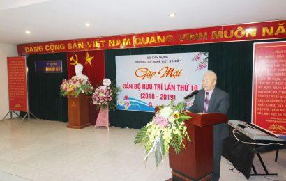 Cao đẳng nghề Việt Xô số 1  tổ chức Gặp mặt các cán bộ, giáo viên hưu trí  nhân dịp kỷ niệm 41 năm ngày thành lập Trường (07/11/1978 – 07/11/2019)