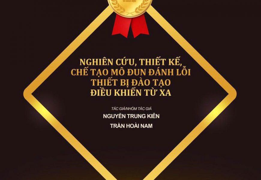 """Đoàn trường Cao đẳng nghề Việt Xô số 1 vinh dự đạt giải thưởng  """"Tri thức trẻ vì giáo dục"""" năm 2019"""