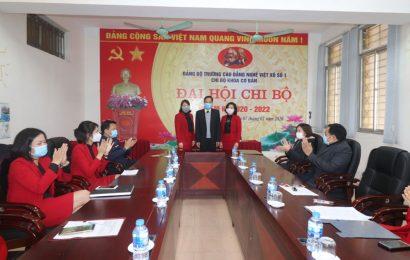 Đại hội các Chi bộ thuộc Đảng bộ trường Cao đẳng nghề Việt Xô số 1 nhiệm kỳ 2020-2022