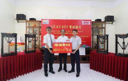 Lễ ký kết tài trợ thi tay nghề thế giới và trao tặng máy in 3D năm 2019
