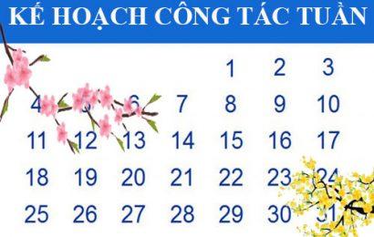 Kế hoạch công tác tuần (từ 01-05/02/2021)